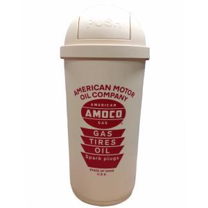 アメリカンオイルメーカー「AMOCO」デザインの45リットル大容量ダストボックス!!  省スペースな...