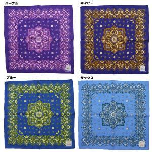 バンダナ ペイズリー 柄 三角巾の詳細画像2