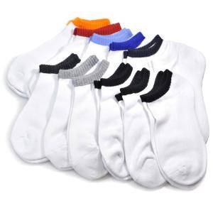 靴下 メンズ スニーカーソックス 無地 25〜27cm 白 くるぶし丈  サイズ : 25〜27cm...