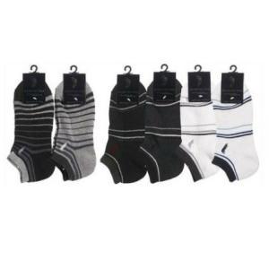 靴下 メンズ WESTERN POLO スニーカーソックス ボーダー 25〜27cm  サイズ : ...