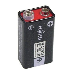 富士通 9V角型マンガン電池 006P 全国一律送料220円・ポスト投函 (商品番号2123-3001)|vshopu-2