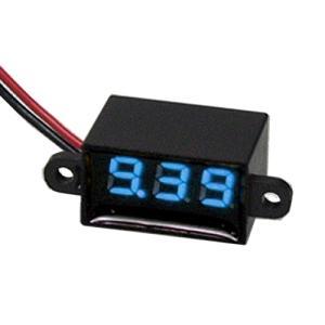 デジタル電圧計 DC3.5-30V 防水・ミニ・青 送料220円・ポスト投函 (商品番号2143-0802) vshopu-2