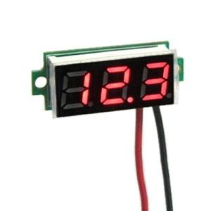 デジタル電圧計モジュール DC3.5-30V 【ミニ・赤】セール特価 送料216円・ポスト投函 (商品番号2145-1501)|vshopu-2