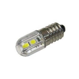 LED豆電球 6V 4SMD 白色 口金サイズE10 全国一律送料216円・ポスト投函 (商品番号2187-1301)|vshopu-2