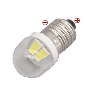 LED豆電球 3V 白色 2SMD 球体カバー付き 口金サイズE10 送料216円・ポスト投函 (商品番号219Z-2402) vshopu-2