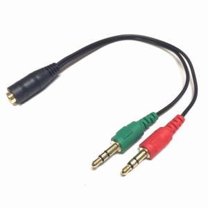 イヤホン&マイク変換ケーブル CTIA規格3.5mm 4極→3極x2 ST35-SM35M 送料220円・ポスト投函 (商品番号2208-2801)|vshopu-2