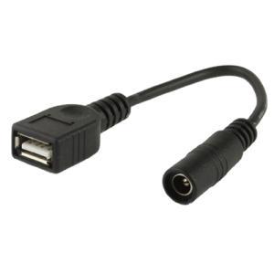 5.5/2.1mmメス→USBメス変換ケーブル|vshopu