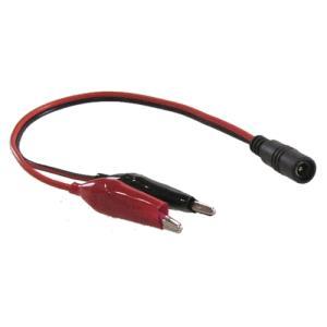 ワニ口クリップ付きDCケーブル 5.5/2.1mmメス (長さ約30cm) vshopu