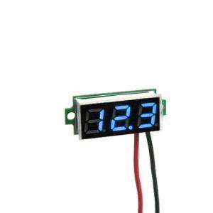 デジタル電圧計モジュール DC3.5-30V (ミニ・青) 電子工作|vshopu