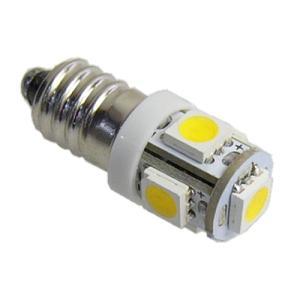 LED豆電球 12V 電球色 5LED 口金サイズE10 LEDライト|vshopu