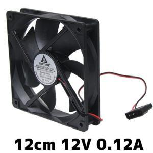 12cm 汎用DCファン DC12V/0.12A ファン 扇風機 サーキュレーター 電子工作|vshopu