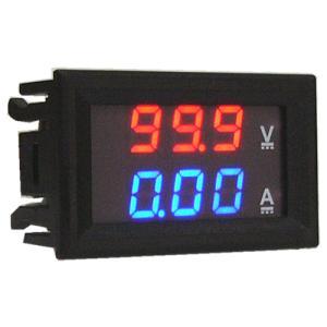 デジタル電圧計&電流計 DC100V 10A (赤V&青A) 特価バルク品|vshopu