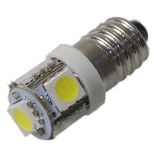LED豆電球 3V 白色 5LED 口金サイズE10 セール特価品|vshopu