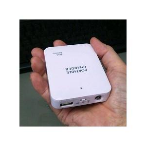 USB出力 電池ケース (単3×4本用)ホワイト LEDライト付き 乾電池式バッテリーケース 電池ボックス|vshopu