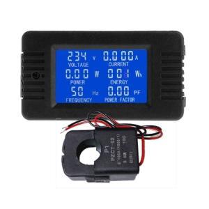 デジタルACメーター 6in1 AC 80-260V 100A 開閉式電流センサー vshopu