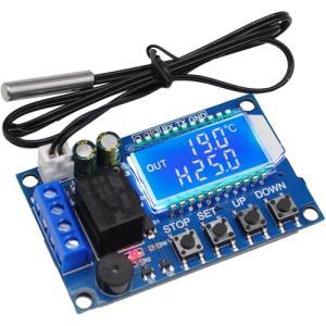 microUSB/6-30V駆動 デジタル温度スイッチ -50〜110度 ブルーLCD画面|vshopu