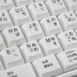【中古】親指シフト表記付きUSBライトタッチキーボード 白|vshopu