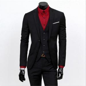 【送料無料】3ピース スリムスーツ メンズ スーツ ピークドラペル2ツボタン スリーピーススーツ  ビジネス 2ツボタン  パーティー 結婚式 2つ釦 紳士服 suit|vsmile