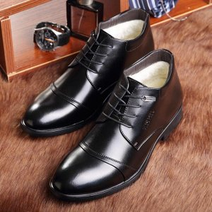 商品の説明  ビジネスシューズ メンズ ポインテッドトゥ メンズシューズ 紳士靴 革靴 PU ボア ...