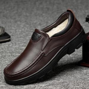 商品の説明  ビジネスシューズ メンズ 革靴 メンズシューズ 紳士靴 カウハイド 牛革  ボア 防寒...