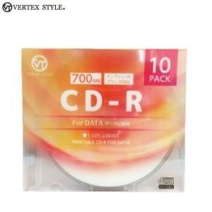 CD-R データ用 ホワイトプリンタブル 700MB 10枚ケース 10CDRD.700MBCA VERTEXヴァーテックス|vt-web