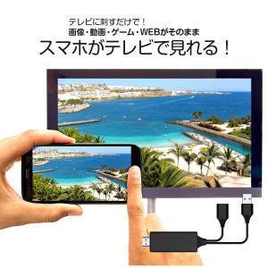 スマホ テレビに映す iPhone ケーブル 有線 ミラーリングケーブル 大画面 HDMI 動画 写真 画像 V-MCS02 VRETEX ヴァーテックス|vt-web