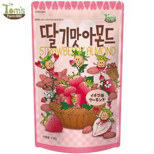 イチゴ味アーモンド 210g / 韓国 アーモンド いちご カロリー / 韓国 アーモンド ハニバター ナッツ カロリー TOMS|vt-web