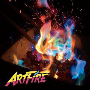 焚火 アートファイヤー アウトドア ARTFIRE 1袋 炎の色が虹色に インスタ映え キャンプ ファイヤー 焚き火|vt-web