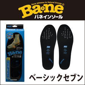 BANE INSOLE(バネ インソール) ベーシック7 ブラック|vvv