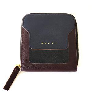 MARNI マルニ スクエア ジップ 3ラウンド ウォレット 二つ折り財布 お財布 小銭入れ付き|W-CLASS