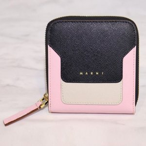 MARNI マルニ スクエア ジップ 3ラウンド ウォレット 二つ折り財布 お財布 レディース|W-CLASS