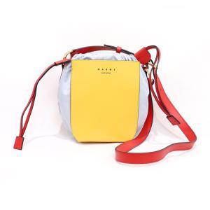 MARNI / MA GUSSET SHOULDER BAG IN CALF AND NAPPA  マルニ コレクション 20SS 春夏 コレクション レディース   ショルダー バッグ 鞄 ロゴ レザー 巾着|W-CLASS
