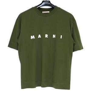 20SS MARNI CREW NECK LOGO T-SHIRT マルニ レディース クルーネック ロゴ Tシャツ 半袖 カットソー 36 38 S M|W-CLASS