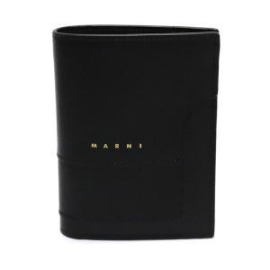 21SS MARNI SAFFIANO LEATHER BILLFOLD WALLET マルニ 小物 サフィアーノ レザー ウォレット 二つ折り 財布 ブラック|W-CLASS