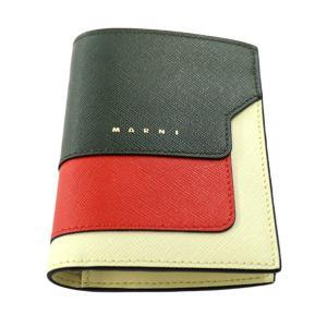 21SS MARNI SAFFIANO LEATHER BILLFOLD WALLET マルニ レディース メンズ サフィアーノ レザー ミニ ウォレット 二つ折り 財布|W-CLASS