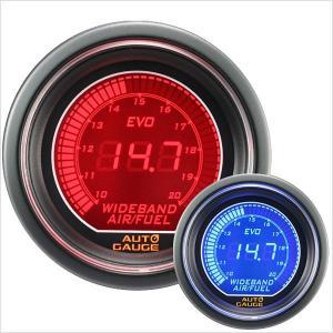オートゲージ EVO 広帯域空燃比計 52Φ デジタル 青 赤 512 精度誤差約±1%の正確な追加メーター (クーポン配布中) w-class