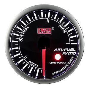 AUTOGAUGE オートゲージ SMシリーズ 黒 空燃比計 メーター径52mm スイス製ステップモ...
