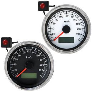 AUTOGAUGE オートゲージ スピードメーター 60mm DC12V バイク用 クリアタイプ 汎...