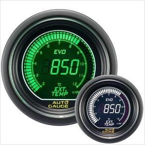 オートゲージ EVO 排気温度計 52Φ デジタル 緑 白 612 精度誤差約±1%の正確な追加メーター (クーポン配布中) w-class