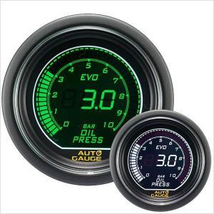 オートゲージ EVO 油圧計 52Φ デジタル 緑 白 612 精度誤差約±1%の正確な追加メーター (クーポン配布中) w-class