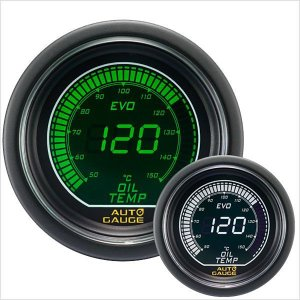 オートゲージ EVO 油温計 52Φ デジタル 緑 白 612 精度誤差約±1%の正確な追加メーター (クーポン配布中) w-class