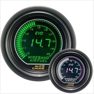 オートゲージ EVO 広帯域空燃比計 52Φ デジタル 緑 白 612 精度誤差約±1%の正確な追加メーター (クーポン配布中) w-class