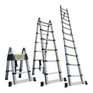 伸縮 はしご 脚立 ハシゴ アルミ 伸縮はしご 伸びる 梯子スーパーラダー 3.8m (クーポン配布中)|w-class