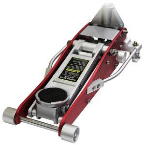 ガレージジャッキ 2t フロアジャッキ 2トン デュアルポンプ式 低床 ローダウン ジャッキ アップ 手動 油圧ジャッキ アルミ 最低85mm