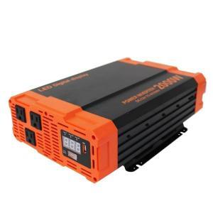 災害時の電力確保に インバーター バッテリー ポータブル電源  12v 2000W DC12V / AC100V  疑似正弦波 矩形波 USBポート付|w-class
