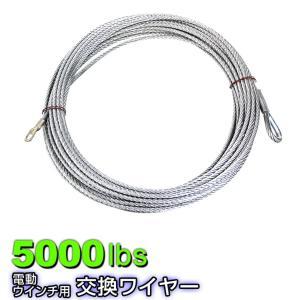 電動ウインチ 交換用ワイヤー 5000LBS 2268kg Φ6.4mm 24M (クーポン配布中)|w-class