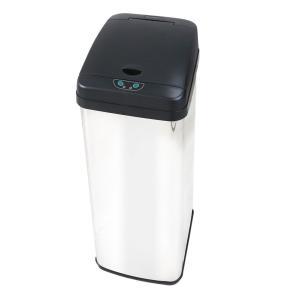 自動開閉ダストボックス 58L センサー スチール スリム リビング キッチン ゴミ箱