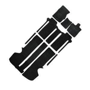 トヨタ ヴェルファイア アルファード 20系 7人乗 車用 フロアマット floormat カーマット 車内用マットセット  8Pセット 黒 TOYOTA|w-class
