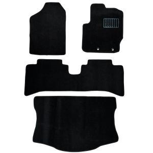 トヨタ アクア 5人乗 車用 フロアマット floormat カーマット 車内用マットセット  4Pセット 黒 TOYOTA aqua|w-class