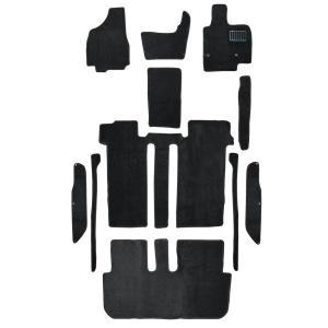 トヨタ エスティマ 50系 8人乗 車用 フロアマット floormat カーマット 車内用マット  11Pセット 黒 TOYOTA ESTIMA|w-class